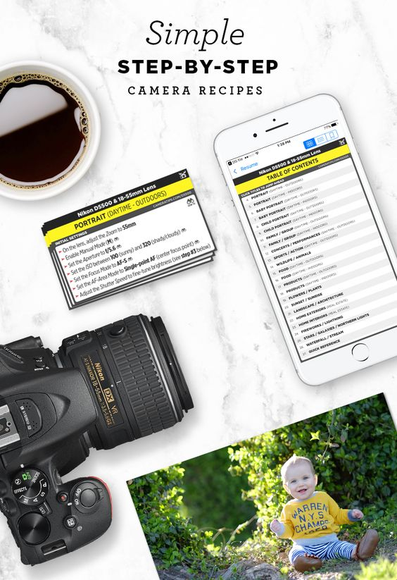 Simple step-by-step cheat sheets to help you take better photos in the real world. Find out the best camera settings for portraits, food, landscapes, nature and more!: