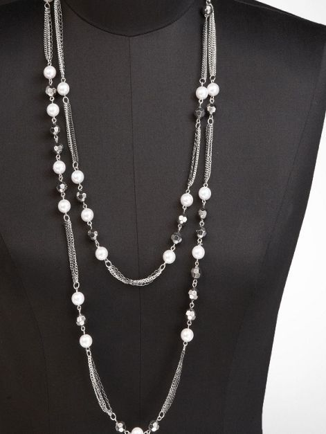 TWO-STRAND BEADED NECKLACE at Express