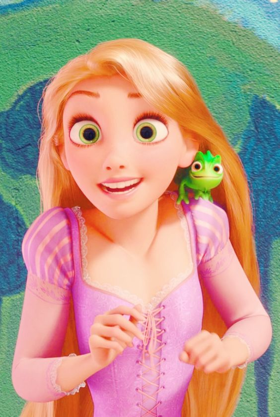Another reason I am pretty sure I'm repunzal in another life: I get this exact same look on my face when I get really excited about something and my friends all think I'm crazy but it's just my really excited face I'm not weird....