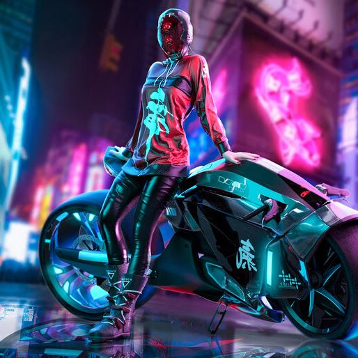 Ultra Hd Wallpaper Cyberpunk Girl Motorcycle 4k 4 1026 For Desktop Laptop Pc Smartphone Iphone And Cyberpunk Aesthetic Cyberpunk Art Cyberpunk Girl