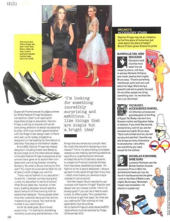 Fashion Fringe Accessories launched in Grazia (part 2)