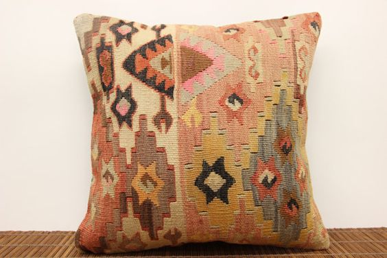 Bohemian Kilim pillow cover 16 x 16 Traditional by kilimwarehouse, $52.00
