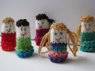 Knitting Patterns For Finger Puppets Free : Poppets - Finger puppets - Knit Free Pattern Knit Free Patternknit free pat...