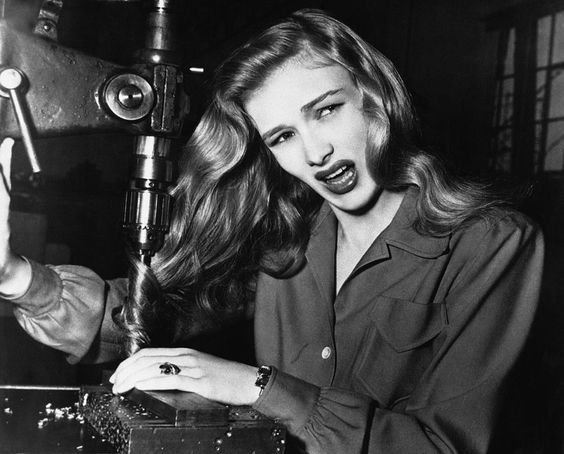 A 1943 safety announcement for the war effort featuring Veronica Lake