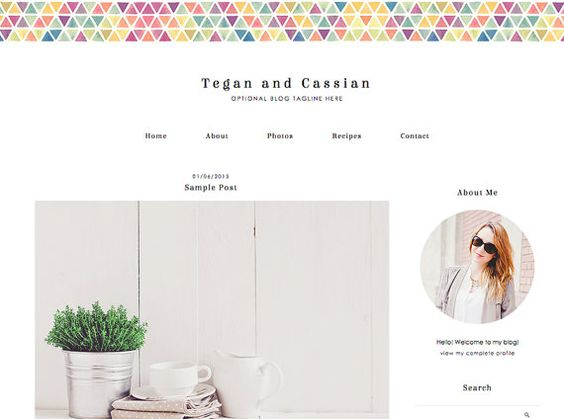 Blogger Template Blog Template  Tegan  by Anna by DesignerBlogs