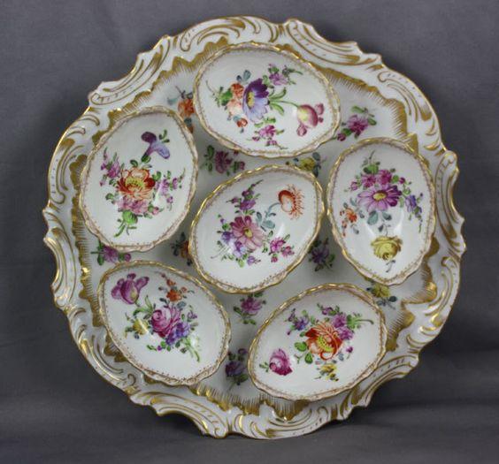 Dresden Porcelain Franziska Hirsch Antique Deviled Egg Plate | eBay:
