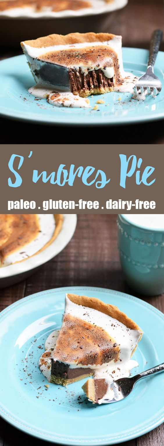S'mores Pie from Living Loving Paleo! | paleo, gluten-free, dairy-free | By far one of the best desserts I've ever had, a must make for your friends and family!