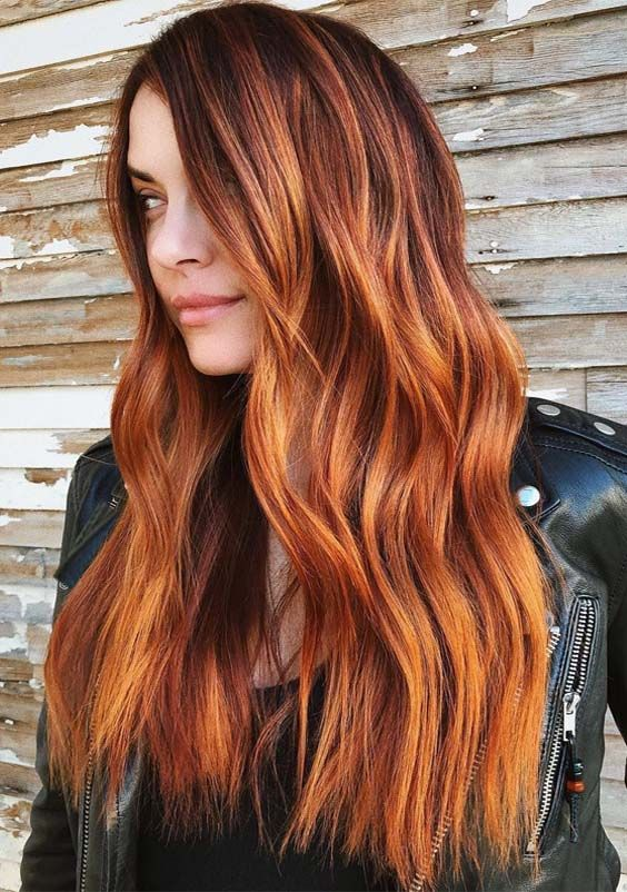 33 Fantastic Red Copper Hair Color Ideas For Long Hair In 2019