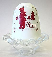 bing pictures of fenton lamps | Fenton Art Glass - 5 1/2'' Christmas Milk Glass Shade with Crystal ...