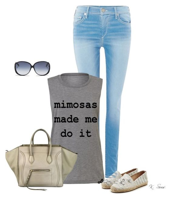 """""""Whatever I said or did, I'm not responsible, after the mimosas """" by ksims-1 ❤ liked on Polyvore featuring True Religion, MICHAEL Michael Kors, Victoria Beckham and CÉLINE"""