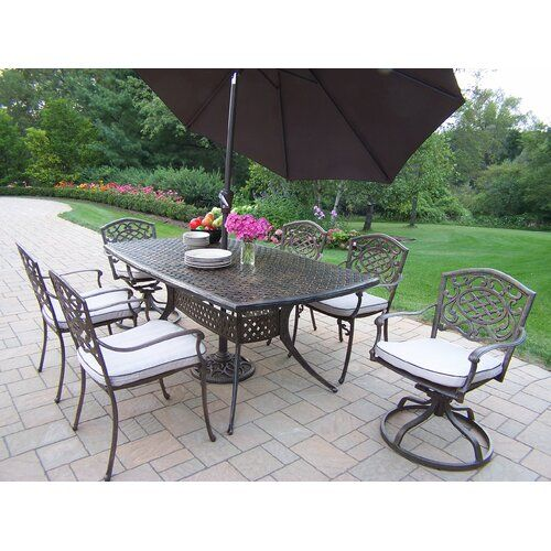 Great For Mcgrady 7 Piece Dining Set With Umbrella By Astoria Grand Patio Garden Furniture 2799 99 F In 2020 Outdoor Dining Set 7 Piece Dining Set Patio Dining Set