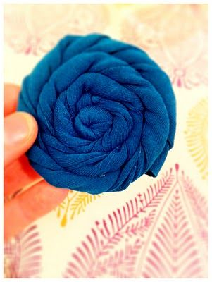 Fabric Flowers #fabric #flowers