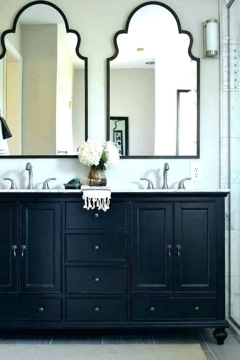 Black Framed Vanity Mirrors Amusing Diamante Bathroom Mirror