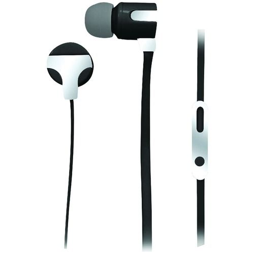 NAXA NE-939 SILVER ASTRA Isolation Stereo Earphones with Microphone (Silver)