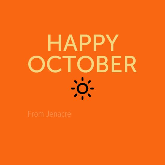 Happy October from Jenacre!