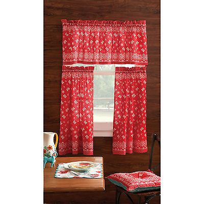 Curtains Ideas butterfly valance curtains : Details about The Pioneer Woman Window Valance Bandana Butterfly ...