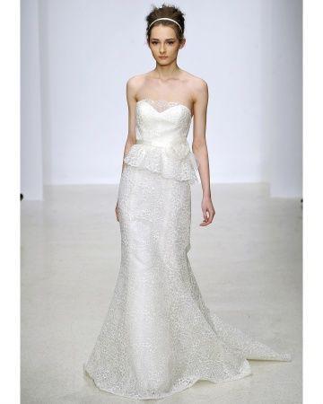 Top 5 Wedding Dress Trends for 2013. #4 - Peplum. Christos Bridal Spring 2013 Peplum