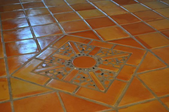 Decorative Saltillo Spanish Floor Tile Mural Spanish
