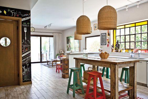 Una cocina elegante sport santiago sports and mesas - Mesas cocina vintage ...