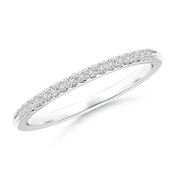 Fishtail Set Diamond Semi Eternity Wedding Band for Her. Irresistible and iconic, this half eternity diamond wedding band is a sparkling choice to exchange your wedding vows.