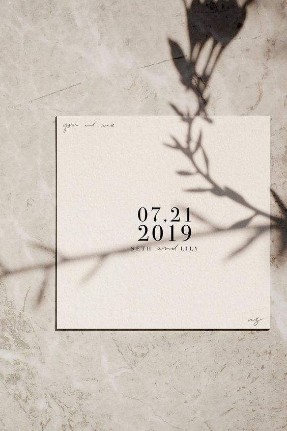 Modern save the dates Hand lettered save the dates   Etsy