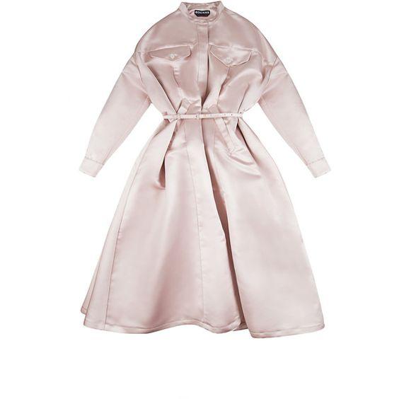 Rochas Double Duchesse Satin Cape Coat (€5.105) ❤ liked on ...