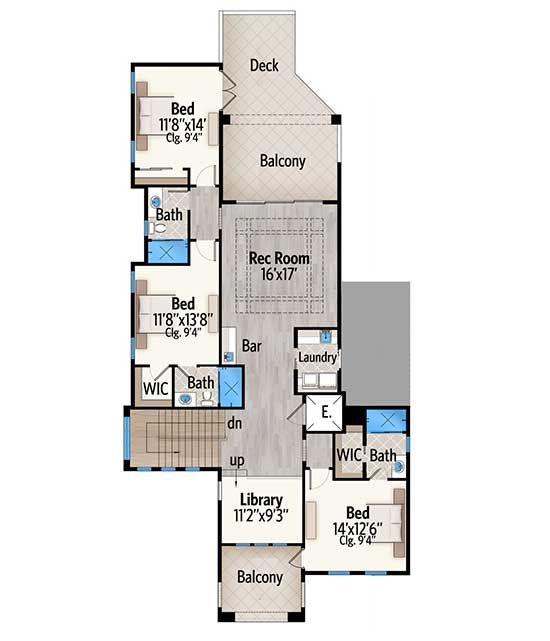 Plan 86059bw Bold And Beautiful With Second Floor Balconies Florida House Plans Floor Plans House Plans