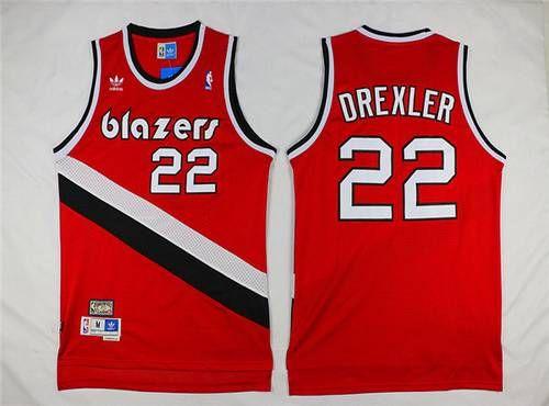 f8934585eb7 ... Black Jersey Mens Portland Trail Blazers 22 Clyde Drexler Red Hardwood  Classics Soul Swingman Throwback Jersey NBA jersey ...