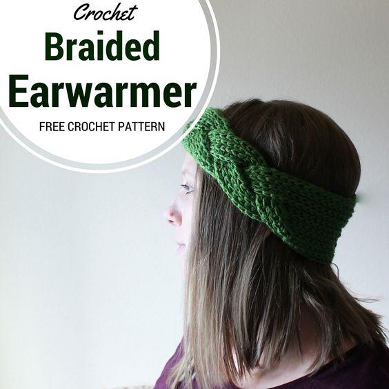 Free Crochet Braided Ear Warmer Pattern : Braided Headband or Earwarmer - Free Crochet Pattern ...