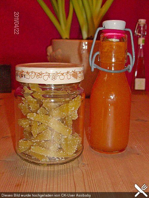 Kandierter Ingwer und Ingwer - Orangensirup (Rezept mit Bild) | Chefkoch.de