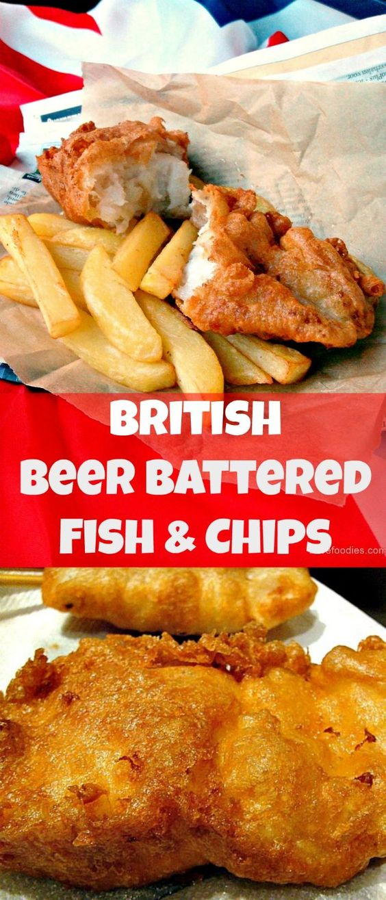The BEST EVER Beer Battered Fish and Chips! Great flavours and don't forget your shake of vinegar and sprinkle of salt! You can also make smaller portions to serve at parties or for an appetizer. Always popular!