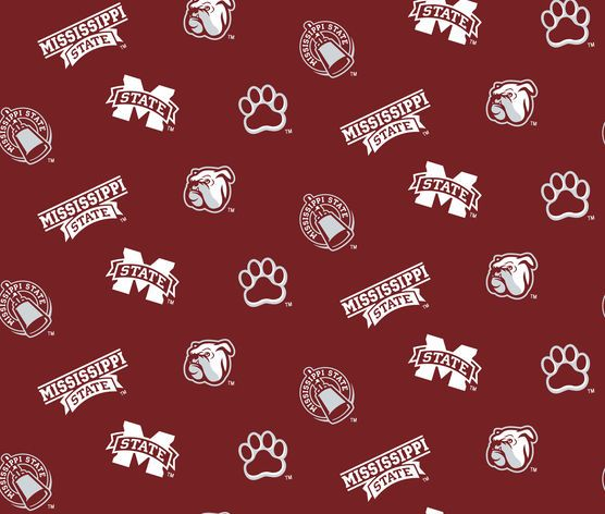 NCAA Cotton Fabric- Mississippi State Allover at Joann.com