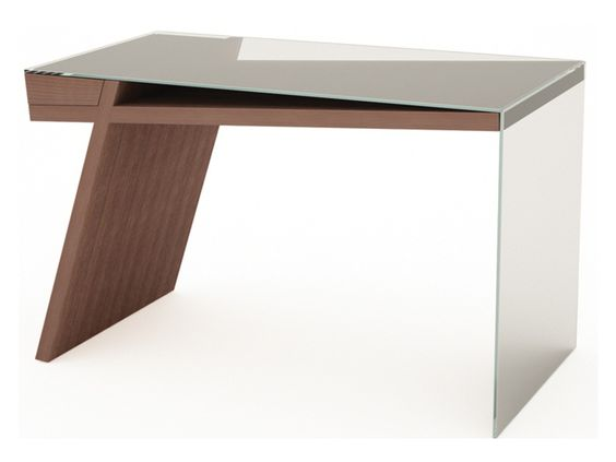 Stylish glass office writing desk