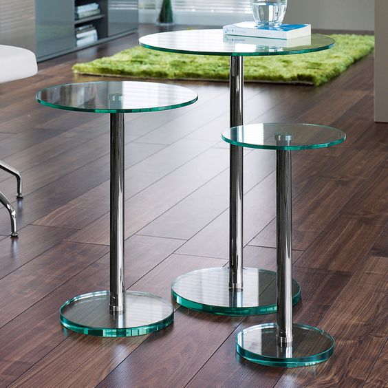 Bella Glass Side Tables Set Clear - Dwell - 199 Gbp | K'S Living