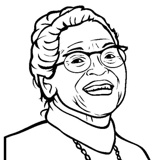Rosa Parks Coloring Page Black History Month Projects Black