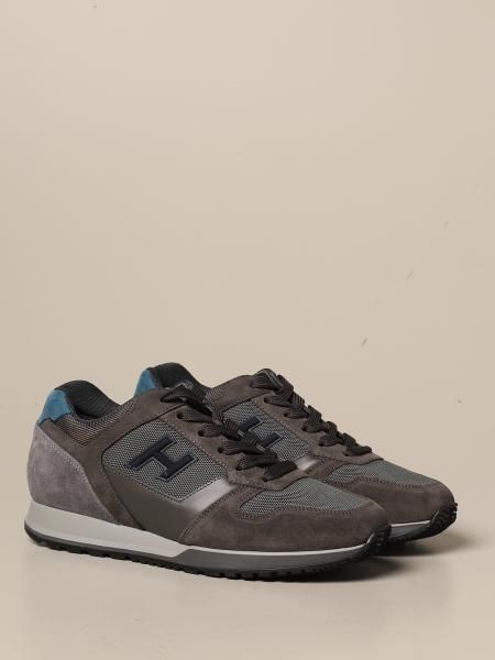 Hogan Outlet: H321 sneakers in suede and micro mesh with H flock ...