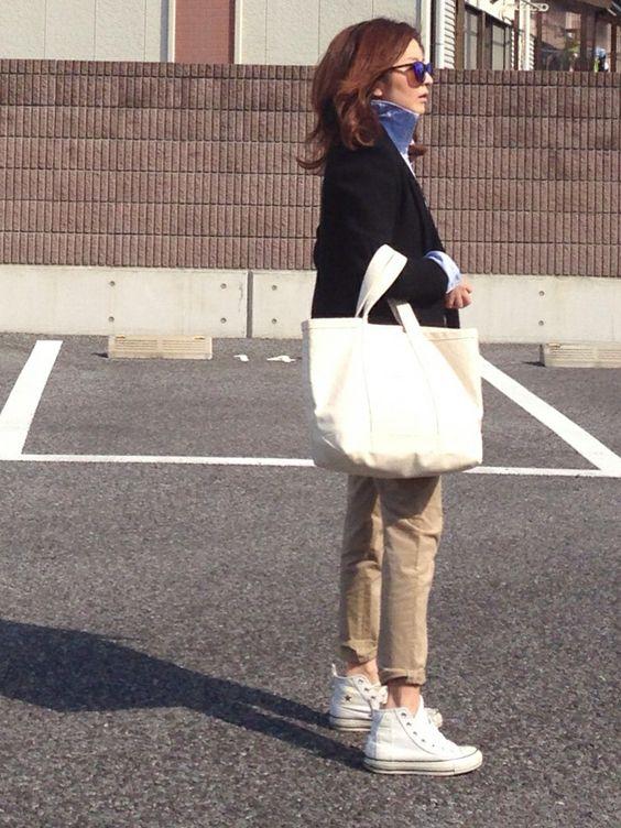 mayumiさんのスニーカー「CONVERSE CONVERSE ALL STAR PAINTER PANTS HI」を使ったコーディネート