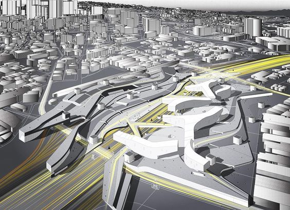 #nextarch by @mcipresso #next_top_architects A work in progress, my speculative proposal for an art park along the Los Angeles River between the Arts District and Boyle Heights