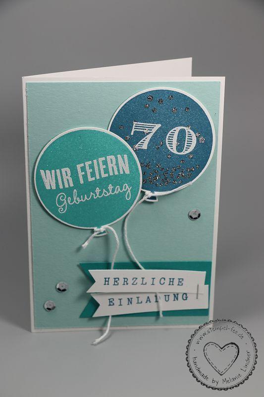Geburtstagskarten selbst gestalten 70 jahre