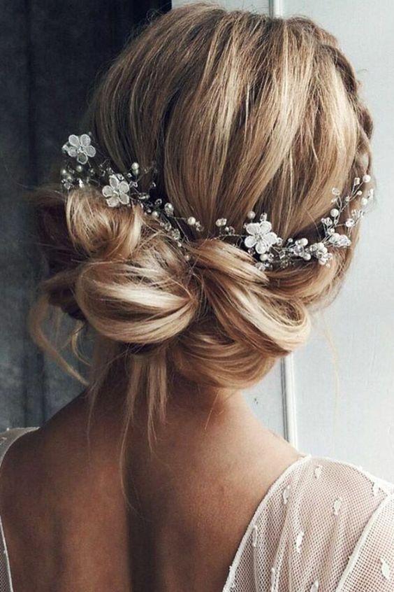 Belles coiffures de mariage pour les cheveux courts