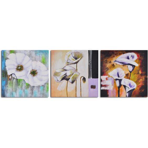 "Hand Painted ""Floral Niceties"" Wall Art"