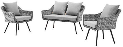 Amazon Com Modern Outdoor Patio Furniture Lounge Sofa And Chair