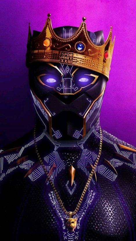 Black Panther Hip Hop Crown Iphone Wallpaper Black Panther Marvel Black Panther Art Marvel Wallpaper
