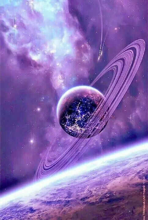 purple and blue planets - photo #31