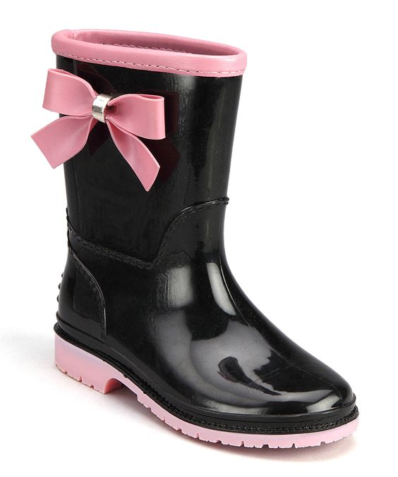 Black & Pink Princess Rain Boot | Pink, Princesses and Rain boots