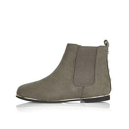 River Island - Girls mini grey Chelsea boots £18.00 | Girl Edit ...