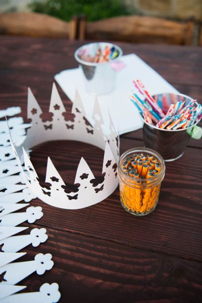 paper crowns for kids - Santa Paula wedding at Limoneira Ranch by Desiree Shuey Photography