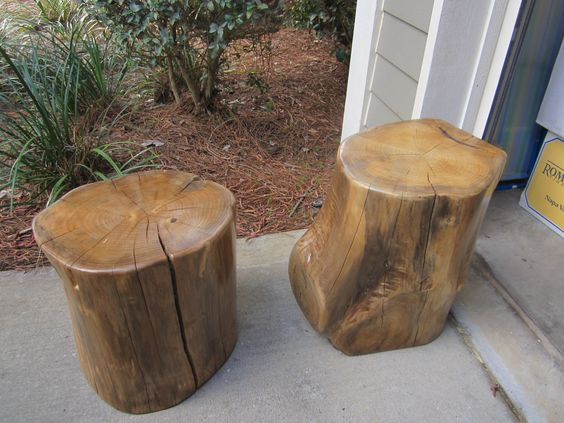 Magnolia Tree Stump Tables By John Gabrielson.