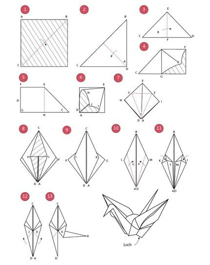 Origami Kranich - weddingstyle.de