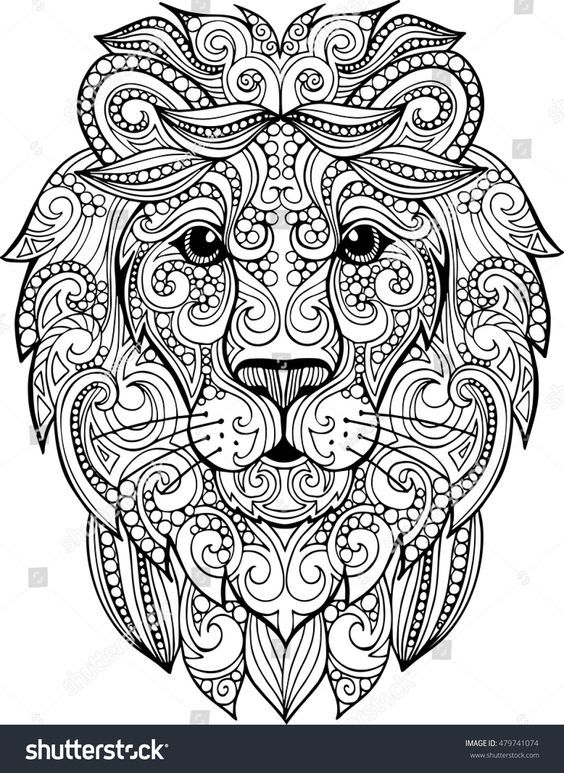Pin Von Nora Muhleis Auf Mandala Lowen Illustration Mandala Zum Ausdrucken Zeichnung